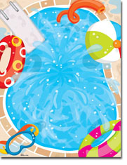 Paper So Pretty - Blank Designer Papers (Cannonball Splash) (DP904)